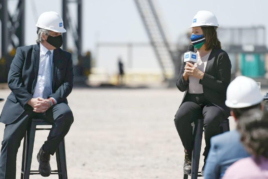 Arabela Carreras acompañó al Presidente en el lanzamiento del Plan Gas desde Vaca Muerta
