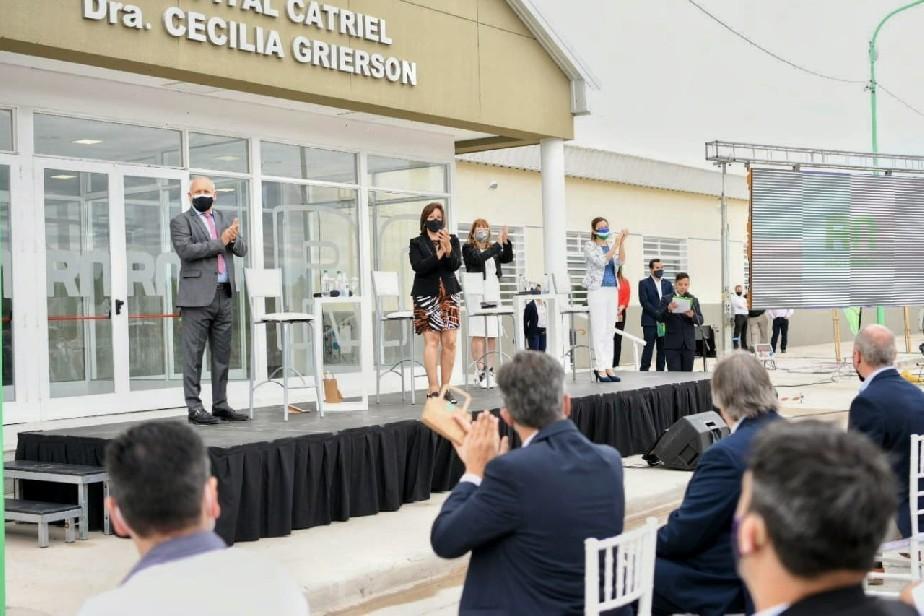 La gobernadora Carreras inauguró el nuevo hospital de Catriel
