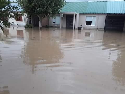 Un temporal de lluvia, viento y granizo provocó serios daños en el Valle Medio