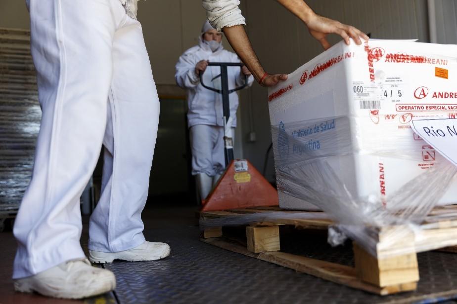 Río Negro recibe otras 11.400 dosis de vacunas Sputnik V