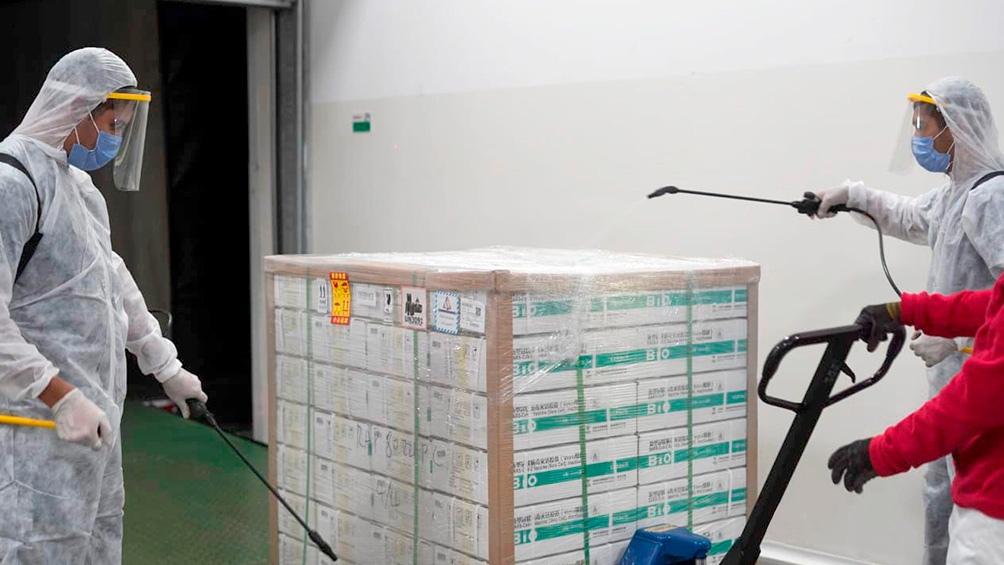 Río Negro recibe otras 15.300 dosis de la vacuna Shinopharm