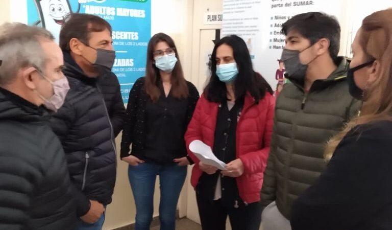 Naidenoff visitó distintas localidades en respaldo a la candidatura de Mario De Rege