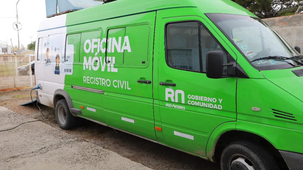 La oficina móvil del Registro Civil llega a Catriel en los próximos días